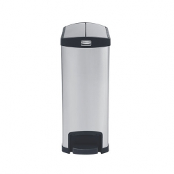 Slim Step-On Bin End Step S/S 50 ltr Black Trim (Sold Singly)