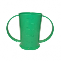 2 Handled Beaker Polycarb 26cl Green (Sold Singly)