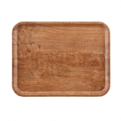Cambro Dark Olive Wood Effect Tray 36 x 46cm (Sold Singly)