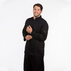 Brigade Chef Clothing Men's Long Sleeve Chefs Jacket Black