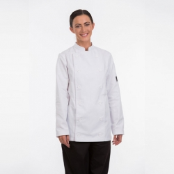 Brigade Chef Clothing Ladies Long Sleeve Chefs Jacket White