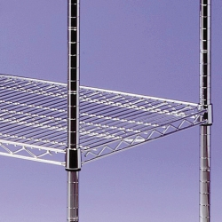 EAIS Connecta Chrome Wire Shelves 4 Tier 1000x400mm