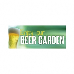 Beer Garden PVC Banner Small 1500x600mm (Sold Singly)