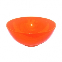 Colourful Terracotta Deep Round 19cm Bowl Tangerine (6 pcs)