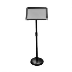 Adjustable Lobby Stand A4 Black Base