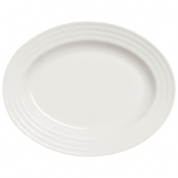 Essence Oval Platter - White 35.5cm (Sold Singly)