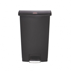 Slim Step-On Bin Front Step 68 ltr Black (Sold Singly)