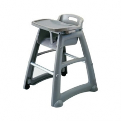 Rubbermaid High Chair Stackable Grey Plastic