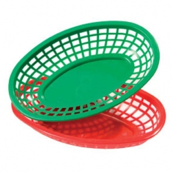 Bowl Green Polypropylene Oval 25cm
