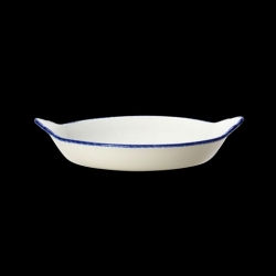 Steelite Blue Dapple Round Eared Dish 21.5cm 8.5 Inch