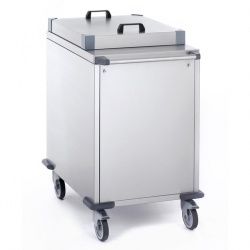 Tournus Equipement Self-Levelling Tray Dispenser Trolley - 560x400mm