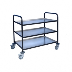 EAIS Trolley With Aluminium Trays 3 Tier