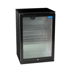 Arctica Black Single Door Bottle Cooler