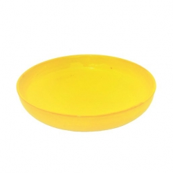 Colourful Terracotta Shallow Round 28cm Bowl Yellow (4 pcs)