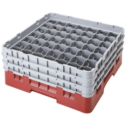 Camrack Glass Rack 49 Compartments Cranberry (Sold Singly)