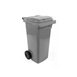 Fletcher European Wheelie Bin Grey 120ltr