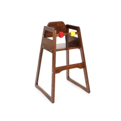 Scandinavian Selection High Chair No Tray Stackable Dark Birchwood