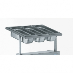 Tournus Equipement Cutlery Dispenser for Self-Levelling Trolley