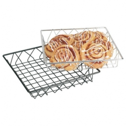Display Basket Black Wire Square 30 x 30 x 5cm (Sold Singly)