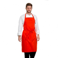 Brigade Adjustable Neck Bib Apron Orange