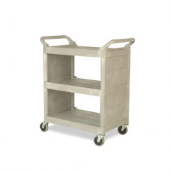 Rubbermaid Trolley 3 Tier Platinum Frame