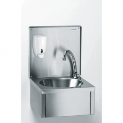 Hand Wash Basin with Upstand and Soap Dispenser