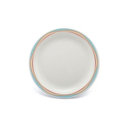 Harfield Duo Plate Narrow Rim Multi Swirls 17cm Polycarb