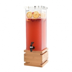 Beverage Disp 2 Gal Sq Bamboo (Sold Singly)