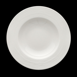 Creme Rousseau Rimmed Bowl 30cm / 12in