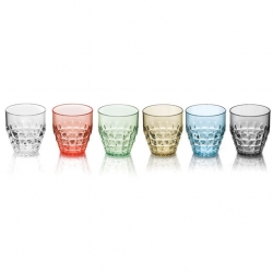 Guzzini Tiffany Set Of 6 Low Tumblers 350ml Assorted Colours