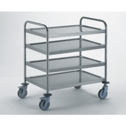 Tournus Equipement Clearing Trolley with 2 Handles - 2 Tray 1000x600mm