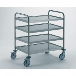 Tournus Equipement Clearing Trolley with 2 Handles - 4 Tray 1000x600mm