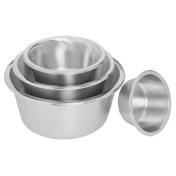 Mixing Bowl Flat Bottomed S/S 2.5ltr 20cm
