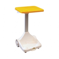 Plastic Sack Holder With Wheels Yellow Lid (Sold Singly)