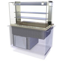 CED Fabrications CED Kubus Cold Multi Level Deli - 4/1 GN