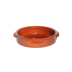 ABS Pottery Terracotta Brown Dish 15cm