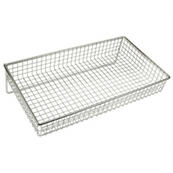 Display Basket Chrome Oblong 36 x 20 x 5cm (Sold Singly)