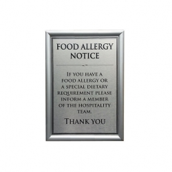 Allergen Wall Sign Dietary Requirements A5 (Sold Singly)
