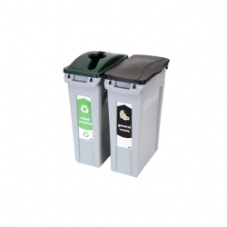87 Litre Recycling Bins 2 Stream Bundle (Sold Singly)