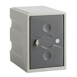 Link 51 1 Door Plastic Locker Grey with Grey Door