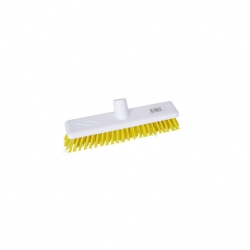 Abbey Hygiene Broom Head Stiff 30cm Yellow (Sold Singly)