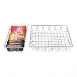 Display Basket Chrome Oblong 35 x 30 x 5cm (Sold Singly)