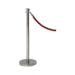 Genware Barrier Post Stainless Steel 1000mm High