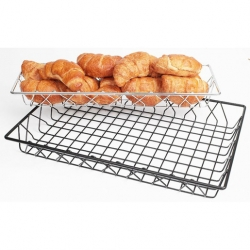Display Basket Black Wire Oblong 45 x 15 x 5cm (Sold Singly)