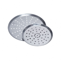 Perforated Pizza Pan, Tapered Sides 9 x 0.75 inch (Sold Singly)