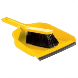Dustpan With Brush Yellow (Sold Singly)