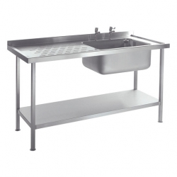 CED Fabrications S/S Sink Single Bowl R/H Drainer 1800mm