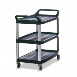 3 Tier Utility Trolley Black Frame