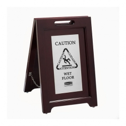 Executive Wood Safety Sign (Sold Singly)