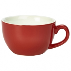 Royal Genware Bowl Shaped Cup17.5cl 6oz Red